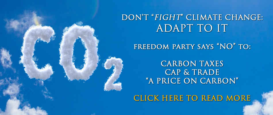 Freedom Party's Plank on Climate Change: No Price on Carbon