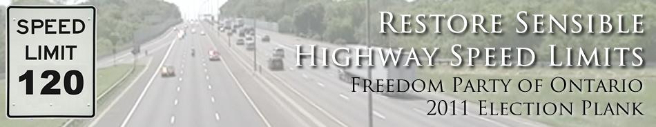 Restore Sensible Highway Speed Limits