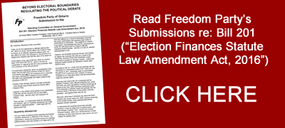 Freedom Party's Submissions re: election finances reforms