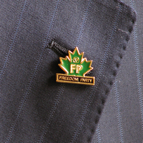 "Freedom Party of Ontario's ""Freedom 200"" Pin"